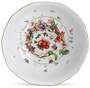 Versace by Rosenthal Flower Fantasy 6-1/4-Inch Fruit dish