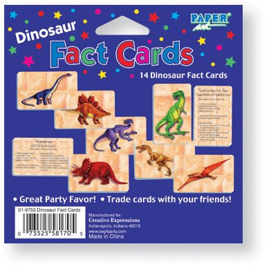 Diggin For Dinosaurs Fact Cards 14 Per Pack - 1
