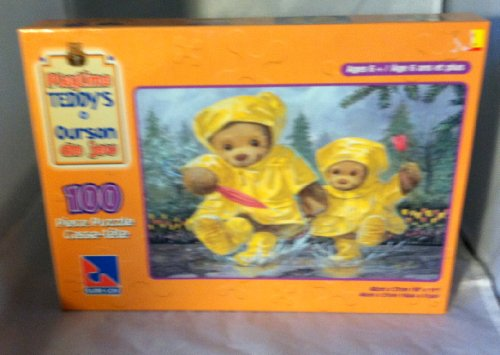 Playtime Teddys - Teddys in the Rain Puzzle 100 Pieces