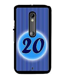 Fuson 2D Printed Numerology Designer back case cover for Motorola Moto X Style - D4240