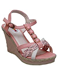 GADGETS Women's Pink Mesh Formals & Lace-Up Flats Shoes