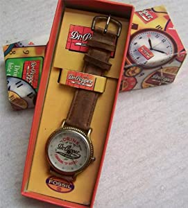 Fossil Dr. Pepper Watch Collectors Vintage wristwatch in Tin ZC-00332