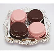Strawberry And Chocolate Macarons Set Of 4 With Tray Perfect For 18 Inch American Girl Dolls