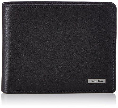 Calvin Klein Rail 5CC K50K500755 - Portafoglio Uomo, 12x10x2 cm, Colore Nero