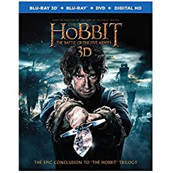 The Hobbit: The Battle of the Five Armies [Blu-ray 3D + Blu-ray + DVD + Digital HD]