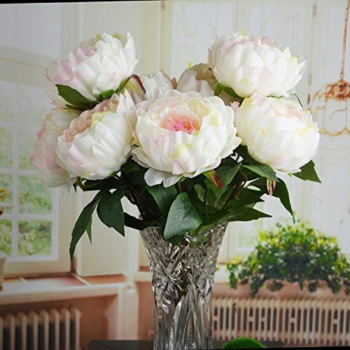 Average Cost Of Wedding Flowers And Decorations : Bunch hight quality fake peony artificial flower bouquet