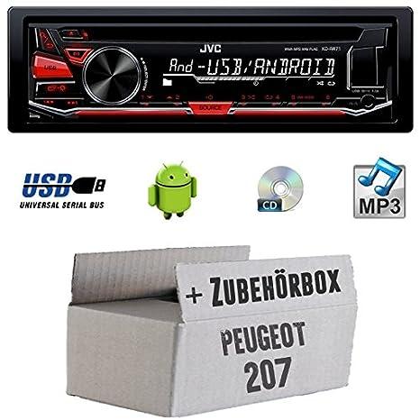 Peugeot 207-JVC KD r471e-Kit de montage autoradio CD/MP3/USB -