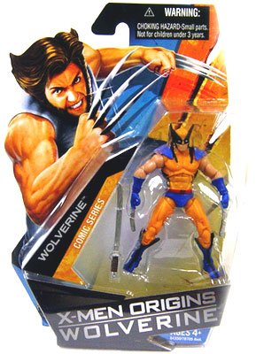 Buy Low Price Hasbro X-Men Origins Wolverine Comic Series 3 3/4 Inch Action Figure Wolverine with Blue and Yellow Suit (B001TMCVGE)