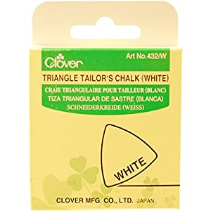 Clover Triangle Tailors Chalk, White