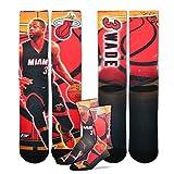 Miami Heat 308S Center Court Dwayne Wade Mens Sublimated Socks