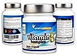 Vitamin B Komplex - 60 vegetarische Kapseln - Mit Allen