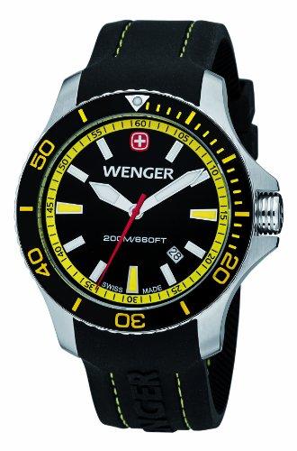 Wenger - 010641101 - Montre Homme - Quartz Analogique - Bracelet Silicone Noir