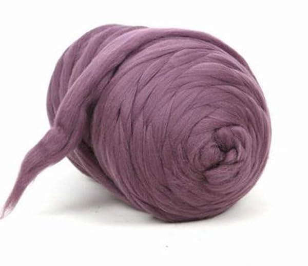 Giant Wool Yarn Chunky Arm Knitting Super Soft Wool Yarn Bulky Wool Roving (2 kg/4.4 lbs, Blush Pink) (Color: Blush Pink, Tamaño: 2 kg/4.4 lbs)
