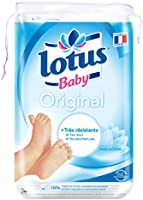 Lotus Baby Original Maxi Cotons Carrés Bi-Faces 70 Cotons - Lot de 10
