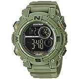 Armitron Sport Men's Quartz Resin Fitness Watch, Color:Green (Model: 40/8284DGN)