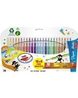 Papermate Reynolds Crealo Feutres de coloriage Super lavables, Lot de 24