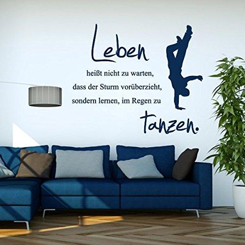 denoda-zu-lernen-im-Regen-zu-tanzen-Wandtattoo-Schwarz-89-x-75-Wandsticker-Wanddekoration-Wohndeko-Wohnzimmer-Kinderzimmer-Schlafzimmer-Wand-Aufkleber