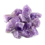 Crystal Allies Materials: 1lb Bulk Rough Amethyst Quartz Stones from Madagascar – Large 1″ Raw…