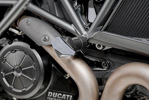 Puig R12 5869N con cursori per Ducati Diavel 2011-2015, taglia M, colore: nero