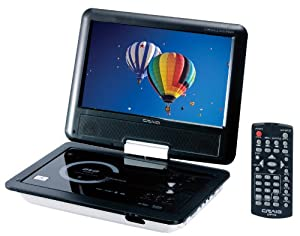 Craig 9-Inch TFT Swivel Portable DVD/CD Player with Remote, Black (CTFT712)