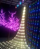 GBB 110V 204LED Mesh Net String Party Lights For Christmas and Halloween Wedding decoration. 8 different modes ( Warm White 3m x 2m 9.8ft x 6.5ft ) Xmas Sale ! Shop now for best price of season!!!