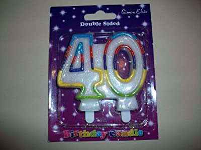 1 X 40th Number Birthday Candles