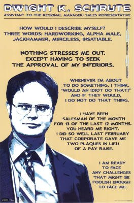 The Office (Dwight K Schrute) TV Poster Print - 22x34