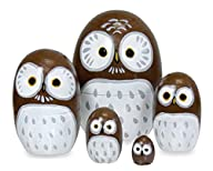 Wood Nesting Doll – Owl (Brown)