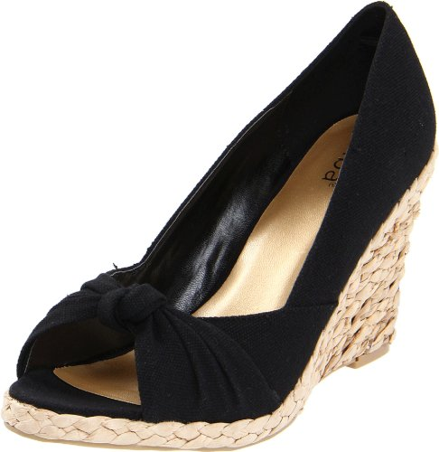 Diba Women's Dandi Lion Wedge Pump,Black Canvas,7 M US