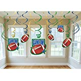 Football Swirl Decorations Party Accessory