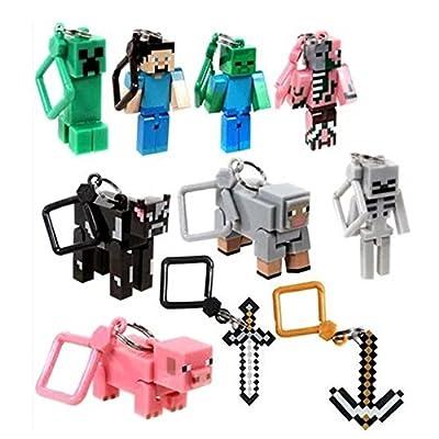 Minecraft Toy Action Figure Hanger Set Series 2, 10-Piece by Minecraft