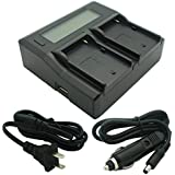 Dual-Channel LCD Display Charger for Sony NP-F Series Camcorder Batteries