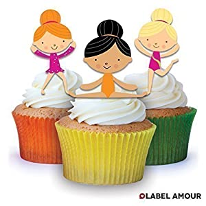 Gymnastic Cake Decorations Uk : 24xGymnastics Edible Cup Cake Toppers: Amazon.co.uk ...