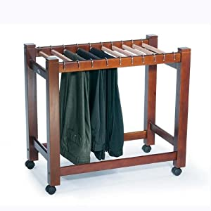 Wooden Pant Trolley/Trouser Rack