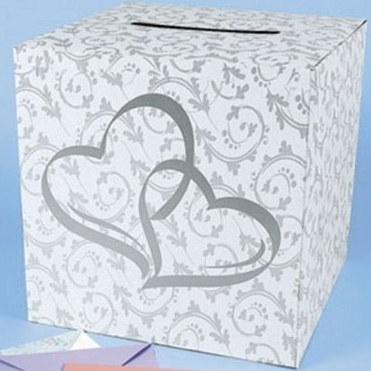 51CgDgeooeL Wedding Card Box   2 Hearts Design and style