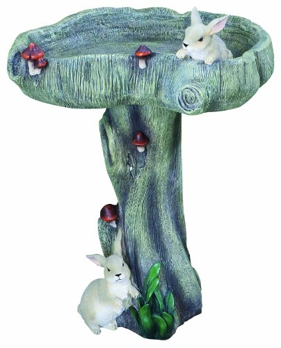 Kelkay 4309 Bunny Bird Bath Statue