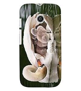 ColourCraft Lovely Duck Design Back Case Cover for MOTOROLA MOTO E