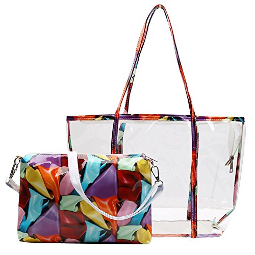 zicac-women-girl-fashion-floral-printing-handbag-beach-bag-jelly-transparent-semi-clear-pvc-shoulder