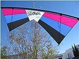 Revolution EXP Quad Line Stunt Kite Raspberry Blue Black Made in the USA