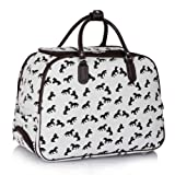 Ladies Travel Bags Holdall Womens Hand Luggage Horse Print Bag Weekend Wheeled Trolley Handbag