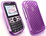 EMARTBUY ALCATEL OT-800 HEXAGON PATTERN GEL SKIN COVER/CASE PURPLE