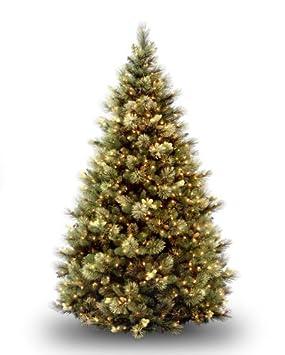 #!Cheap National Tree 7 1/2' Carolina Pine Tree, Hinged, 86 Flocked Cones, 750 Clear Lights (CAP3-306-75)