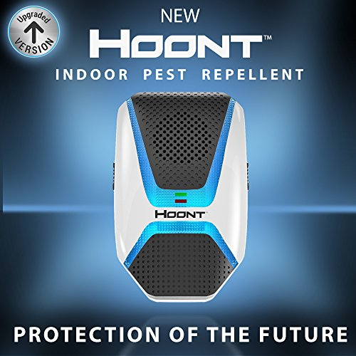 Hoont Indoor Electronic Pest Repeller with Advanced Repelling Technology + Night Light - Get Rid of All Types of Insects and Rodents [UPGRADED VERSION] (Electronic Pest Repellent compare prices)