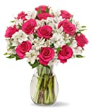 Signature Long Stem Rose Alstro Bouquet - With Vase