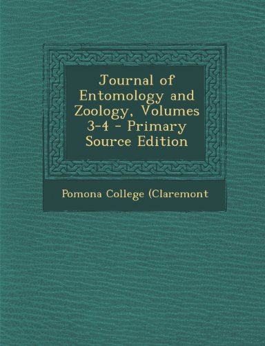 Journal of Entomology and Zoology, Volumes 3-4 - Primary Source Edition