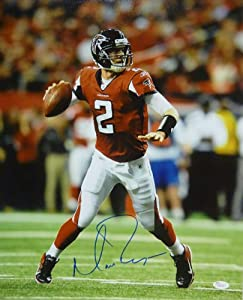 Matt Ryan Autographed Atlanta Falcons Red Jersey 16x20 Photo by DenverAutographs