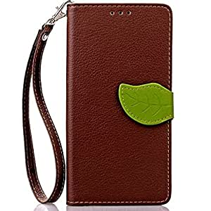 Galaxy S7 Edge Case, OEAGO Samsung Galaxy S7 Edge Wallet Case Protective Leather Case Cover for Samsung Galaxy S7 Edge (Brown)