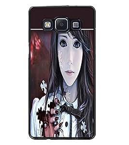PrintDhaba Horror Girl D-1374 Back Case Cover for SAMSUNG GALAXY E5 (Multi-Coloured)
