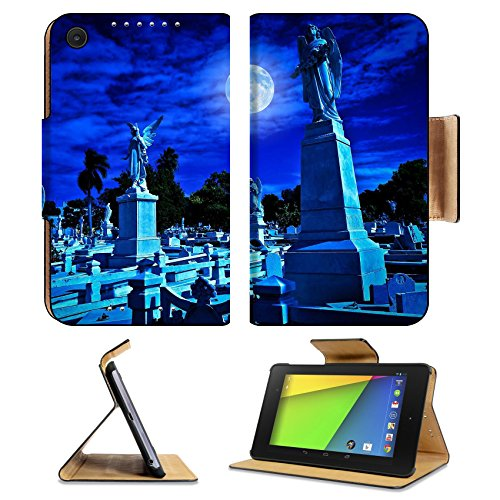 [Asus Google Nexus 7 2nd Generation Flip Case Cemetery at night with a bright full moon Photo 11874801 by Liili Customized Premium Deluxe Pu Leather generation Accessories HD Wifi Luxury] (Best Cult Halloween Movies)