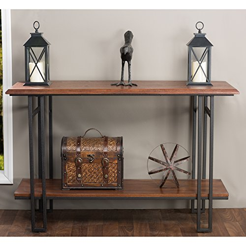 Baxton Studio Newcastle Wood and Metal Console Table, Brown (Industrial Console compare prices)
